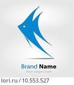 Купить «Blue fish brand logo/logotype», фото № 10553527, снято 18 ноября 2018 г. (c) PantherMedia / Фотобанк Лори