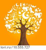 Купить «Halloween icons tree», иллюстрация № 10555727 (c) PantherMedia / Фотобанк Лори