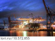 Купить «Container Terminal», фото № 10572855, снято 21 сентября 2019 г. (c) PantherMedia / Фотобанк Лори