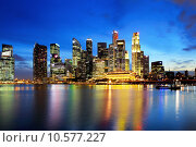 Купить «Singapore city skyline at night », фото № 10577227, снято 16 октября 2019 г. (c) PantherMedia / Фотобанк Лори