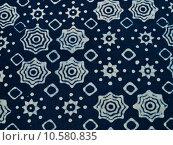 Купить «Blue batik fabric with repettition pattern as background from Yo», фото № 10580835, снято 21 марта 2019 г. (c) PantherMedia / Фотобанк Лори