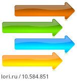 Купить «Colored and glossy arrows buttons», иллюстрация № 10584851 (c) PantherMedia / Фотобанк Лори