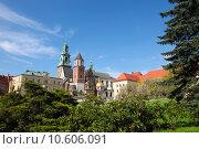 Купить «Wawel cathedral is a Roman Catholic church located on Wawel Hill in Krakow, Poland.», фото № 10606091, снято 19 марта 2019 г. (c) PantherMedia / Фотобанк Лори