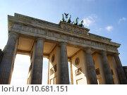 Купить «sightseeing berlin blauer himmel brandenburger», фото № 10681151, снято 19 октября 2019 г. (c) PantherMedia / Фотобанк Лори