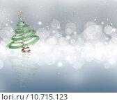 Купить «Christmas tree on a starry lights background», иллюстрация № 10715123 (c) PantherMedia / Фотобанк Лори