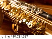 Купить «Classic music Sax tenor saxophone and clarinet vintage», фото № 10721327, снято 18 марта 2019 г. (c) PantherMedia / Фотобанк Лори
