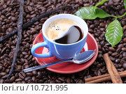 Купить «Cup of coffee», фото № 10721995, снято 18 ноября 2017 г. (c) PantherMedia / Фотобанк Лори