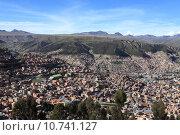 Купить «city town skyline la paz», фото № 10741127, снято 16 октября 2019 г. (c) PantherMedia / Фотобанк Лори