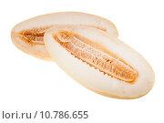 Купить «Спелая дыня на белом фоне», фото № 10786655, снято 12 августа 2015 г. (c) Литвяк Игорь / Фотобанк Лори