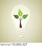 Купить «Green light bulb with leaves», иллюстрация № 10800327 (c) PantherMedia / Фотобанк Лори