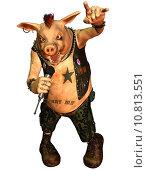 Купить «illustration rock rendering pig punk», фото № 10813551, снято 25 апреля 2019 г. (c) PantherMedia / Фотобанк Лори