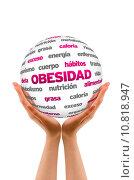 Купить «Obesty Word Sphere (In Spanish)», фото № 10818947, снято 15 декабря 2018 г. (c) PantherMedia / Фотобанк Лори