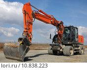 Купить «scoop construction site dredger baggern», фото № 10838223, снято 20 марта 2019 г. (c) PantherMedia / Фотобанк Лори