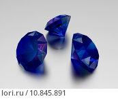 Купить «3D Sapphire - 3 Blue Gems», фото № 10845891, снято 26 марта 2019 г. (c) PantherMedia / Фотобанк Лори