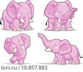 Купить «Elephant in Several Poses - Standing, Dancing & Raising Its Trunk», иллюстрация № 10857883 (c) PantherMedia / Фотобанк Лори