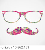 Купить «Retro hipster face geometric icons», иллюстрация № 10862151 (c) PantherMedia / Фотобанк Лори