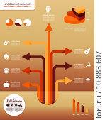 Купить «Fall season infographic elements Autumn graphics template.», иллюстрация № 10883607 (c) PantherMedia / Фотобанк Лори