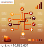 Купить «Fall season infographic network elements Autumn graphics template.», иллюстрация № 10883631 (c) PantherMedia / Фотобанк Лори