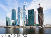 Купить «The Moscow City skyline in summer day», фото № 10884727, снято 16 октября 2019 г. (c) PantherMedia / Фотобанк Лори