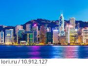 Купить «Hong Kong skyline at night», фото № 10912127, снято 16 октября 2019 г. (c) PantherMedia / Фотобанк Лори