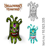 Купить «Halloween monsters spooky creature illustration EPS10 file», иллюстрация № 10923335 (c) PantherMedia / Фотобанк Лори
