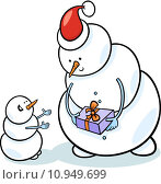 Купить «christmas snowmen cartoon illustration», иллюстрация № 10949699 (c) PantherMedia / Фотобанк Лори