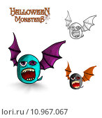 Купить «Halloween monsters freak bat EPS10 file», иллюстрация № 10967067 (c) PantherMedia / Фотобанк Лори