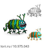 Купить «Halloween Monsters spooky isolated creatures set.», иллюстрация № 10975043 (c) PantherMedia / Фотобанк Лори