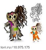 Купить «Halloween monsters isolated sketch style zombies set.», иллюстрация № 10975175 (c) PantherMedia / Фотобанк Лори