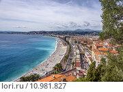 Купить «france nice cote dazur promenade», фото № 10981827, снято 25 мая 2018 г. (c) PantherMedia / Фотобанк Лори