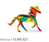 Купить «Chinese new year of the Horse abstract triangle EPS10 file.», иллюстрация № 10990827 (c) PantherMedia / Фотобанк Лори