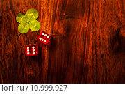 Купить «Lucky dice gamling», фото № 10999927, снято 14 июля 2020 г. (c) PantherMedia / Фотобанк Лори