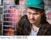 Купить «Suspicious Male with Hat», фото № 11006535, снято 22 июля 2019 г. (c) PantherMedia / Фотобанк Лори