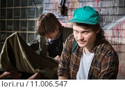Купить «Frustrated Homeless Youth», фото № 11006547, снято 22 июля 2019 г. (c) PantherMedia / Фотобанк Лори