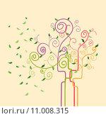 Купить «Swirl trendy spring tree», иллюстрация № 11008315 (c) PantherMedia / Фотобанк Лори