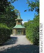 Купить «Chinese pavillon in Drottningholm (Sweden, Stockholm)», фото № 11014167, снято 16 июня 2019 г. (c) PantherMedia / Фотобанк Лори