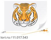 Купить «Drawing tiger», фото № 11017543, снято 16 августа 2018 г. (c) PantherMedia / Фотобанк Лори
