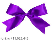 Купить «purple bow isolated», фото № 11025443, снято 19 февраля 2019 г. (c) PantherMedia / Фотобанк Лори