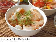 Купить «food salad seafood dressing prawns», фото № 11045815, снято 20 июня 2019 г. (c) PantherMedia / Фотобанк Лори