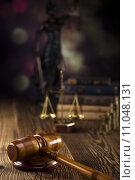 Купить «Mallet of judge, legal code and scales», фото № 11048131, снято 6 июля 2020 г. (c) PantherMedia / Фотобанк Лори