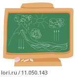 Купить «cycle water in nature environment drawn with chalk on a school blackboard», иллюстрация № 11050143 (c) PantherMedia / Фотобанк Лори