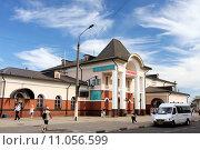 Купить «Cтанция Сергиев Посад Московской железной дороги», фото № 11056599, снято 14 июля 2012 г. (c) Manapova Ekaterina / Фотобанк Лори