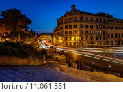 Купить «Marcello Theater and Traffic Trails on Via Marcello, View from Capitoline Hill, Rome, Italy», фото № 11061351, снято 18 марта 2019 г. (c) PantherMedia / Фотобанк Лори