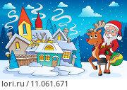 Winter scene with Christmas theme 5. Стоковая иллюстрация, иллюстратор Klara Viskova / PantherMedia / Фотобанк Лори