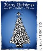 Купить «Christmas tree stylized drawing 3», иллюстрация № 11061815 (c) PantherMedia / Фотобанк Лори