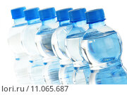 Купить «Composition with empty polycarbonate plastic bottles of mineral», фото № 11065687, снято 24 мая 2019 г. (c) PantherMedia / Фотобанк Лори
