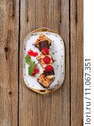 Купить «Peanut squares and cream filled wafer roll», фото № 11067351, снято 17 февраля 2019 г. (c) PantherMedia / Фотобанк Лори