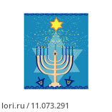 Купить «Vector illustration of hanukkah menorah abstract card», иллюстрация № 11073291 (c) PantherMedia / Фотобанк Лори