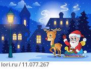 Winter scene with Christmas theme 6. Стоковая иллюстрация, иллюстратор Klara Viskova / PantherMedia / Фотобанк Лори