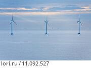 Купить «offshore wind farm  at early morning», фото № 11092527, снято 7 июня 2020 г. (c) PantherMedia / Фотобанк Лори